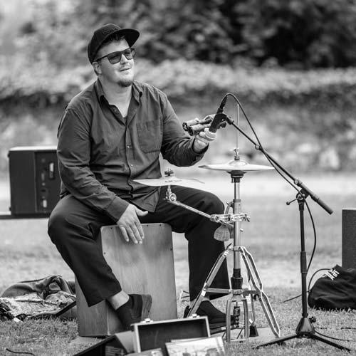 Percussionist Dominik Liechti